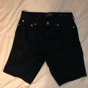 Pacsun Ripped Jean Shorts Black 31